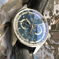 Zenith El Primero 36'000 VpH pre-owned 42mm Blue Chronograph Date Leather