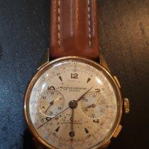 Chronographe Suisse Cie Geelgoud 39mm Handopwind tweedehands
