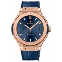 Hublot Rose gold Automatic Blue 38mm new Classic Fusion Blue