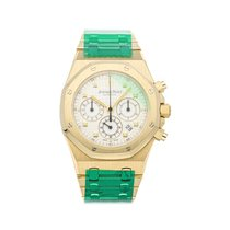 Audemars Piguet Royal Oak Chronograph Gelbgold 39mm Silber