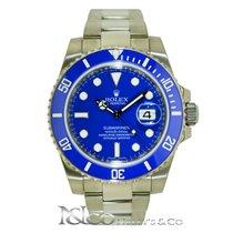 Rolex Submariner Date 18K White Gold - Blue Ceramic Bezel