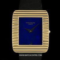 Patek Philippe 18k Y/Gold Lapis Lazuli Dial Ribbed Case Gents...