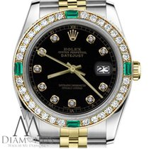 Rolex Lady-Datejust Gold/Steel 31mm Black No numerals