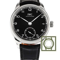 IWC Portugieser Hand-Wound 8 Days Black Leather NEW