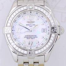 Breitling Lady Diamond B-Class Chronometer Stahl MOP Box Papiere
