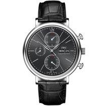 IWC IW391008, Portofino Chronograph, Black Dial, Steel&Lea...