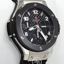 Hublot Big Bang 41mm Chronograph Black Ceramic Bezel Watch...