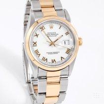 Rolex 16203 Men's Datejust Steel & Gold, White Roman Dial