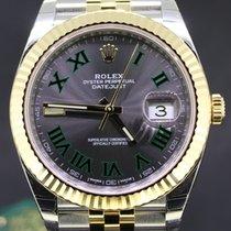 Rolex Datejust 41MM Gold/Steel Jubilee, Wimbledon Dial Full Set
