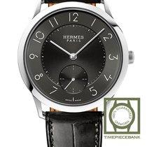Hermès Slim d'Hermès Steel 39.5mm Black Arabic numerals