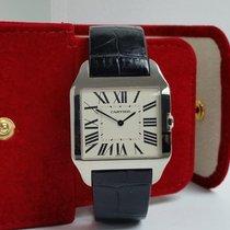 Cartier Santos Dumont Oro blanco 35mm Plata Romanos
