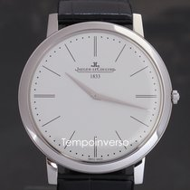 Jaeger-LeCoultre Platinum Manual winding Silver No numerals 39mm new Master Ultra Thin