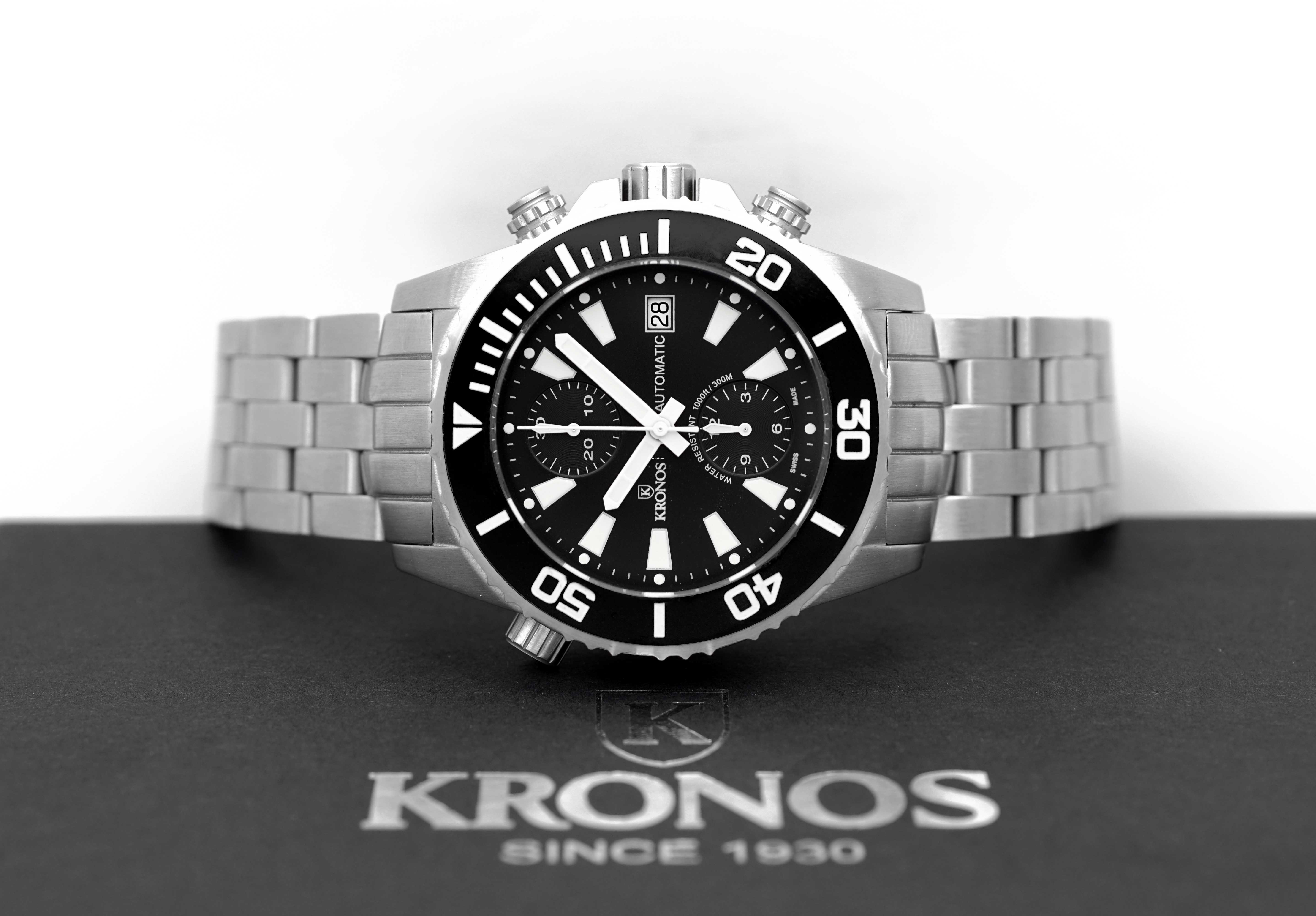 eabe89a8c KRONOS K300 AUTOMATIC CHRONOGRAPH BLACK for $864 for sale from a Trusted  Seller on Chrono24