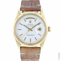 Rolex Day-Date 36 pre-owned 36mm White Date Weekday Leather