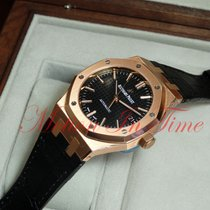 Audemars Piguet Royal Oak Selfwinding Or rose 37mm Noir Sans chiffres