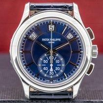 Patek Philippe Annual Calendar Chronograph Platino 42mm Azul
