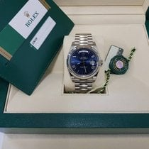 Rolex Day-Date 40 18K White Gold Blue Dial