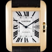 Cartier Tank Anglaise Yellow gold 36.2mm Silver Roman numerals