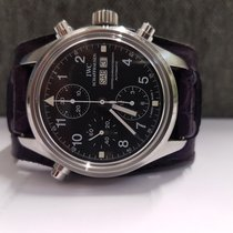 IWC Pilot Double Chronograph occasion 42mm Noir Double chronographe Date