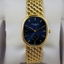 Patek Philippe Golden Ellipse Zuto zlato 32mm Plav-modar