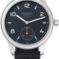 NOMOS Club Neomatik Steel 37mm Blue United States of America, New York, Airmont