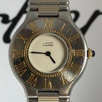 Cartier 21 Must de Cartier Gold/Steel 31mm White No numerals