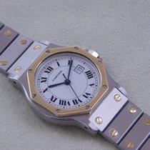 Cartier Santos Ronde Herrenuhr Automatik Stahl Gold wie Neu
