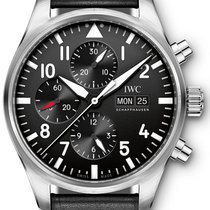 IWC Pilot Chronograph Steel 43mm Black Arabic numerals United States of America, Iowa
