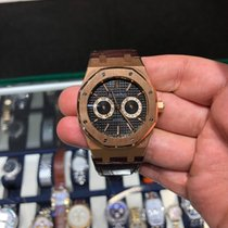 Audemars Piguet Royal Oak Day-Date Rose gold 39mm Black No numerals