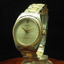 Rolex Oyster Perpetual 34 gebraucht 34mm Silber Gold/Stahl