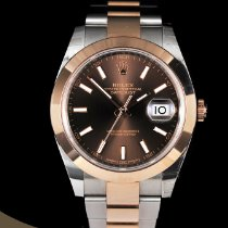 Rolex Datejust Gold/Steel 41mm Brown No numerals South Africa, Pretoria