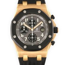 Audemars Piguet Red gold Automatic Grey 42mm pre-owned Royal Oak Offshore Chronograph