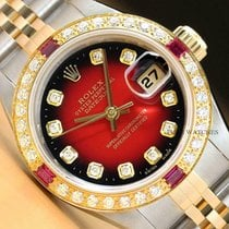 Rolex Lady-Datejust Steel 26mm Red