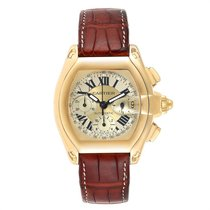 Cartier Roadster Yellow gold 47mm Champagne Roman numerals