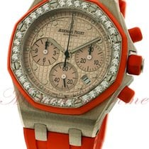 Audemars Piguet Royal Oak Offshore Lady Oro blanco 37mm Naranja Sin cifras