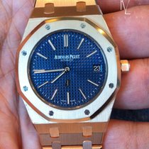 Audemars Piguet Extra-Thin Royal Oak Blue Dial rose gold
