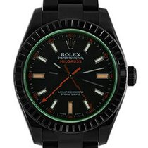 Rolex Used 116400GV_pvd Oyster Perpetual Milgauss GV - Black...