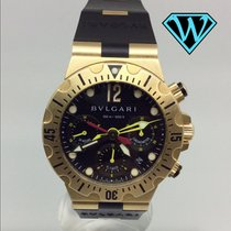 Bulgari Diagono Scuba Chrono Professional Diving Flyback solid...