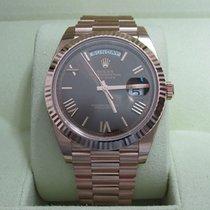 Rolex Day-Date 40 18K Everose Gold/Chocolate Roman Dial