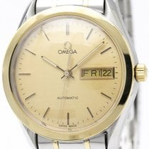 Omega Classic Day Date 18k Gold Steel Automatic Watch 166.0299...
