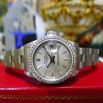 Rolex Oyster Perpetual Date 79160 Stainless Steel Diamond Watch