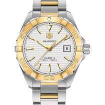 TAG Heuer Aquaracer 300M Gold/Steel 40.5mm Silver