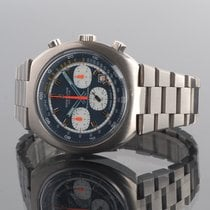 Breitling Transocean Chronograph pre-owned 42mm Blue Chronograph Date Steel