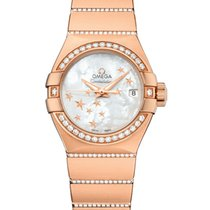 Omega Rose gold Automatic Mother of pearl 27mm new Constellation Ladies