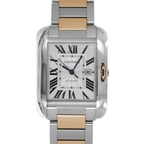 Cartier Tank Anglaise Gold/Steel 39.2mm Silver Roman numerals United States of America, Maryland, Baltimore, MD