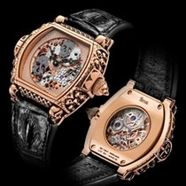 Strom Red gold Manual winding Black 47mm new Agonium