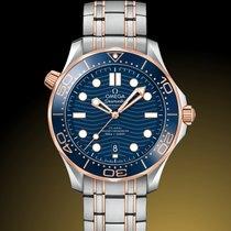 Omega Seamaster Diver 300 M Acero y oro 42mm Azul Sin cifras