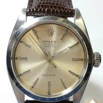 Rolex 35mm Manual winding 1950 pre-owned Oyster Perpetual (Submodel) Silver