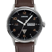 Junkers Steel Quartz Black Arabic numerals 42mm new G38