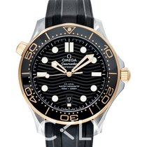 Omega Yellow gold Automatic new Seamaster Diver 300 M